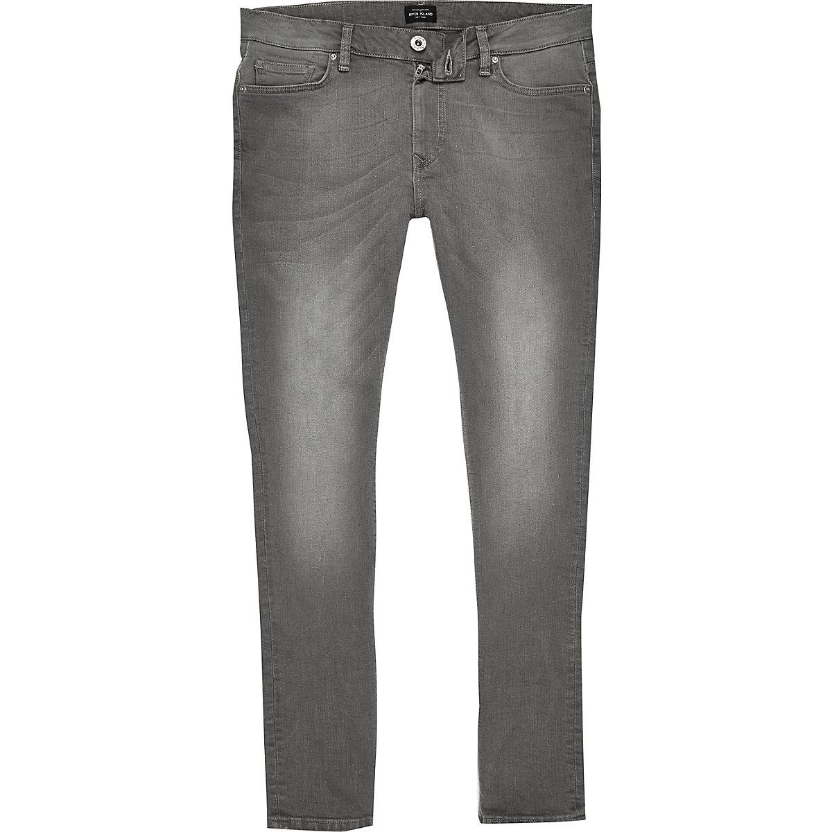 Grey wash Danny super skinny jeans