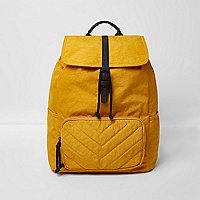 Mustard yellow backpack