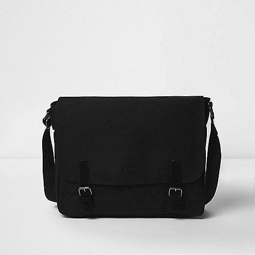 Black Mi-Pac canvas messenger bag