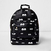 MiPac – Schwarzer Rucksack mit Augenmuster