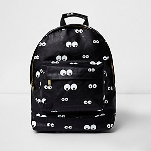 Black Mi-Pac eyes print backpack