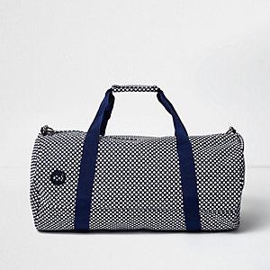 Navy Mi-Pac micro dot duffel bag