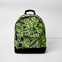Black Mi-Pac leaf print backpack