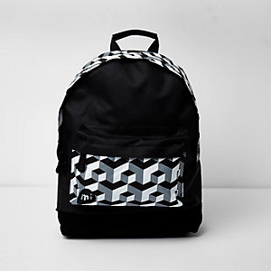 MiPac – Schwarzer Rucksack mit geometrischem Muster