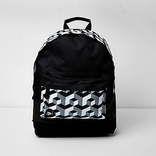 Black Mi-Pac geo print backpack