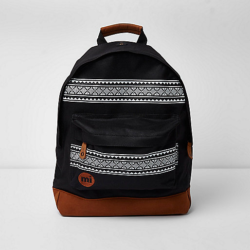 Black Mi-Pac Aztec print backpack