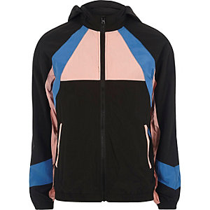 Pink colour block sports jacket