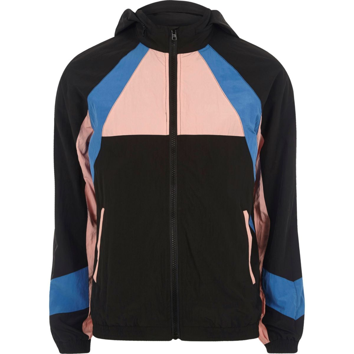 Pink color block sports jacket