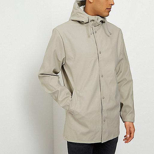 Light stone hooded jacket