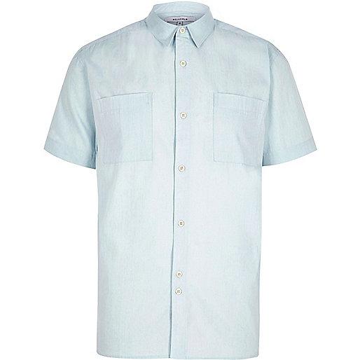 Light blue Bellfield short sleeve shirt