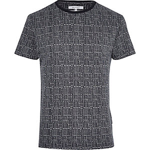 Navy Bellfield blue dot print T-shirt