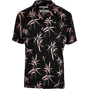 Black Bellfield palm tree short sleeve shirt
