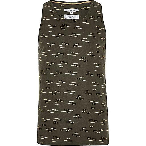 Dark grey Bellfield printed vest
