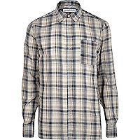 Cream Bellfield check shirt