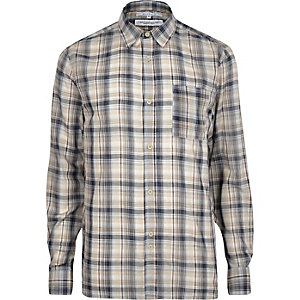 Cream Bellfield check shirt