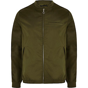 Khaki green Bellfield shine bomber jacket