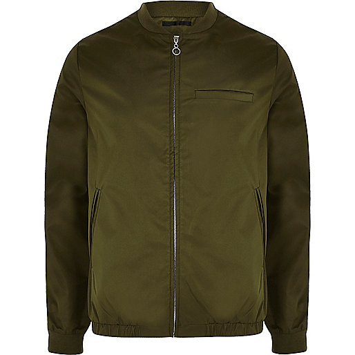 Khaki green Bellfield shine bomber jacket