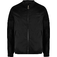 Black Bellfield shine bomber jacket