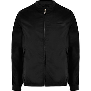 Black Bellfield shine bomber jacket