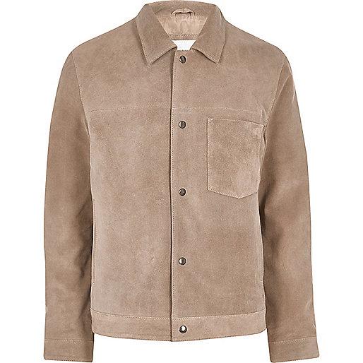 Stone Bellfield suede jacket