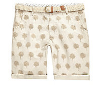 Stone Bellfield palm print shorts