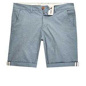 Bellfield – Hellblaue Shorts mit Kontrastprint