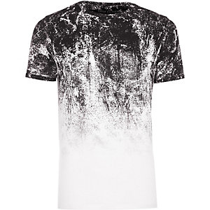 T-shirt Big & Tall blanc à motif dégradé
