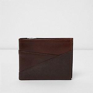 Light brown textured panel wallet