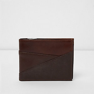 Light brown textured panel wallet