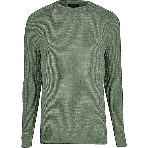 Light green textured knit sweater