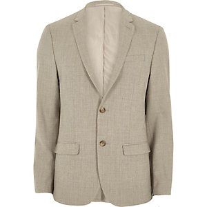 Stone skinny fit suit jacket