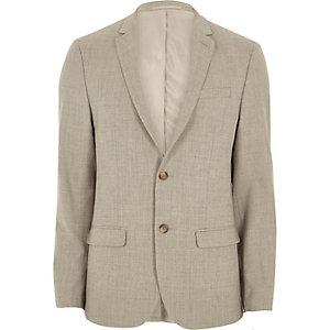 Stone skinny fit suit jacket