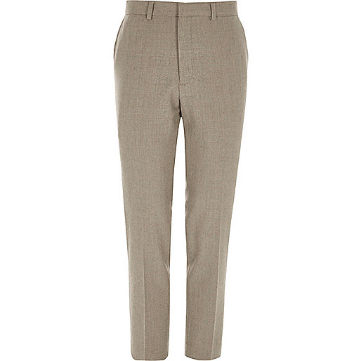 Stone skinny fit suit pants
