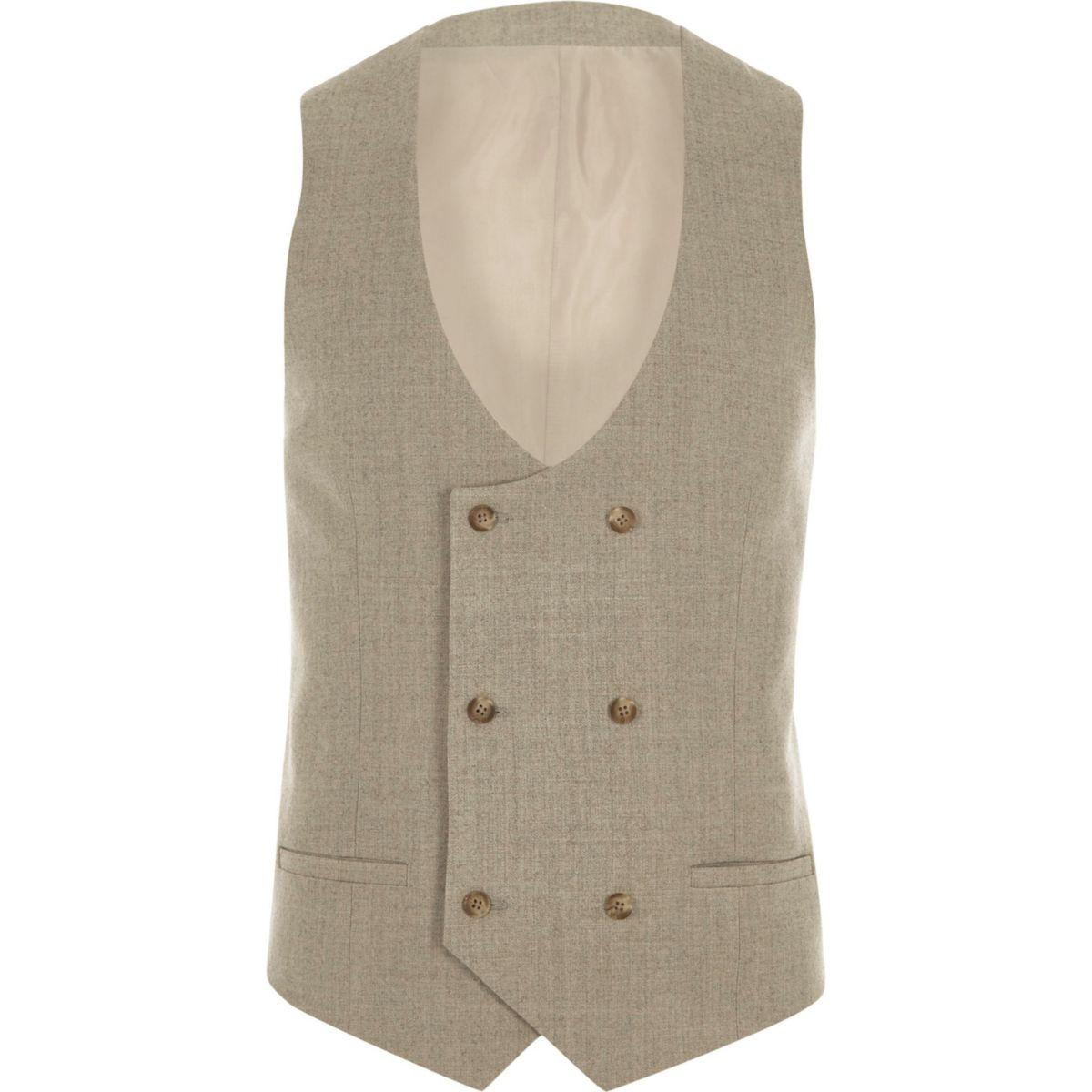 Stone suit vest