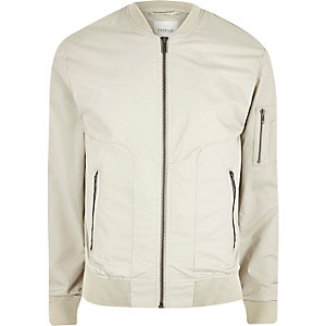 Ecru Jack & Jones Premium bomber jacket