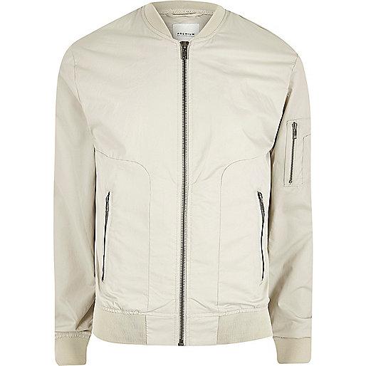 Ecru Jack & Jones Premium bomber jacket