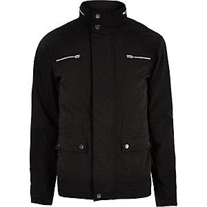 Veste Jack & Jones noire de qualité supérieure avec poche zippée