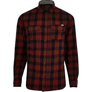 Chemise Jack & Jones Vintage à carreaux rouge casual