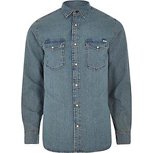 Jack & Jones Vintage – Blaues Jeanshemd