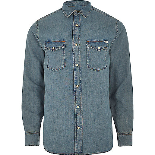 Blue Jack & Jones Vintage denim shirt