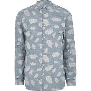 Jack & Jones Premium – Hemd mit Blättermuster