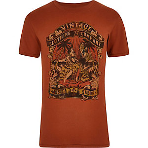 T-shirt Jack & Jones Vintage imprimé rouge