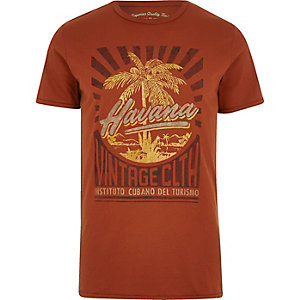 Red Jack & Jones Vintage print T-shirt