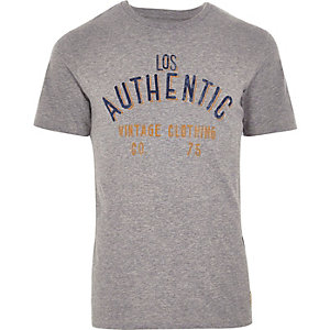 T-shirt Jack & Jones vintage gris clair