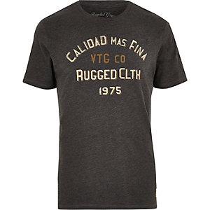 T-shirt Jack & Jones Vintage gris foncé