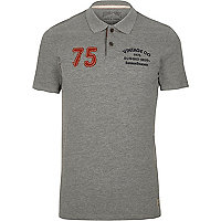 Grey Jack & Jones Vintage polo shirt