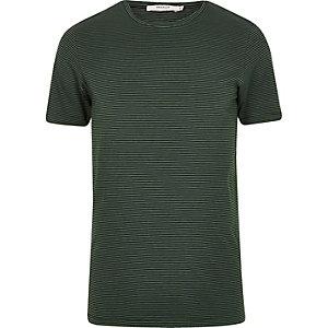 Jack & Jones Premium – Grünes, gestreiftes T-Shirt