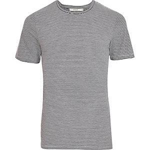 Jack & Jones – Blau gestreiftes T-Shirt