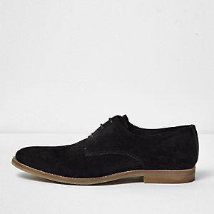 Chaussures habillées en daim noir