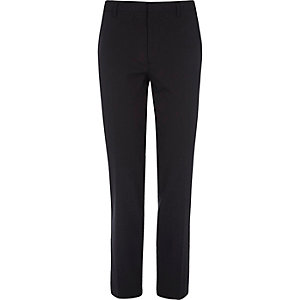 Marineblauwe skinny fit pantalon